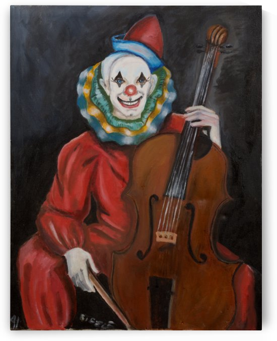 Cello Clown by Ellen Steele by Ellen Steele