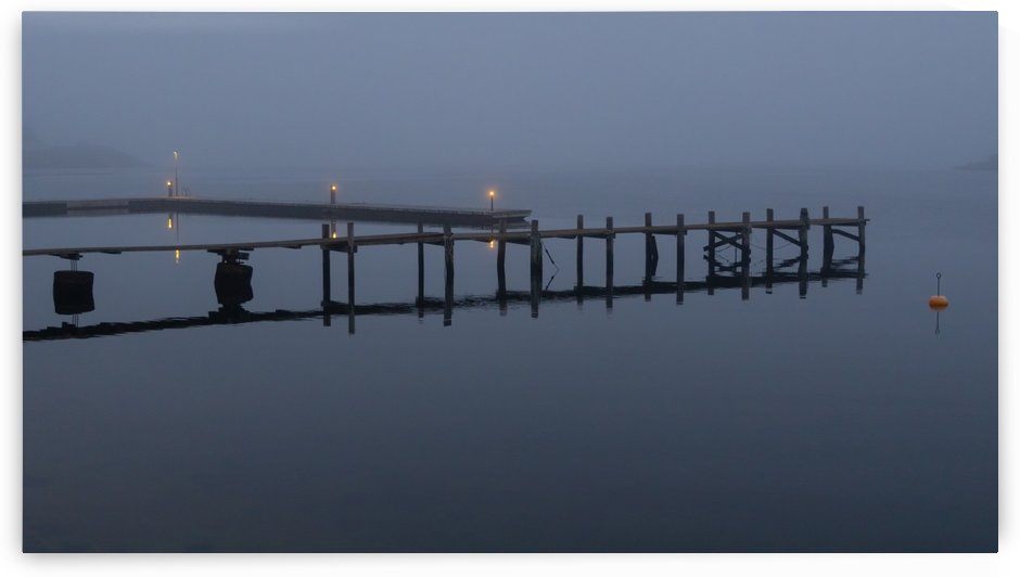 Evening fog pier by Per-Anders Gunnarsson