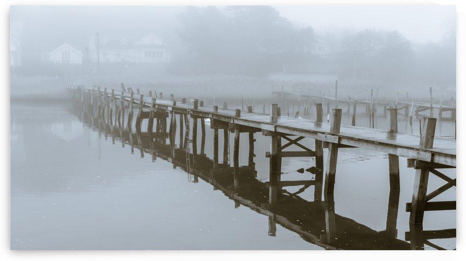 Pier in fog by Per-Anders Gunnarsson