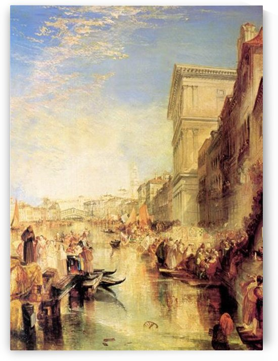 The grand canal in Venice by Joseph Mallord Turner by Joseph Mallord Turner