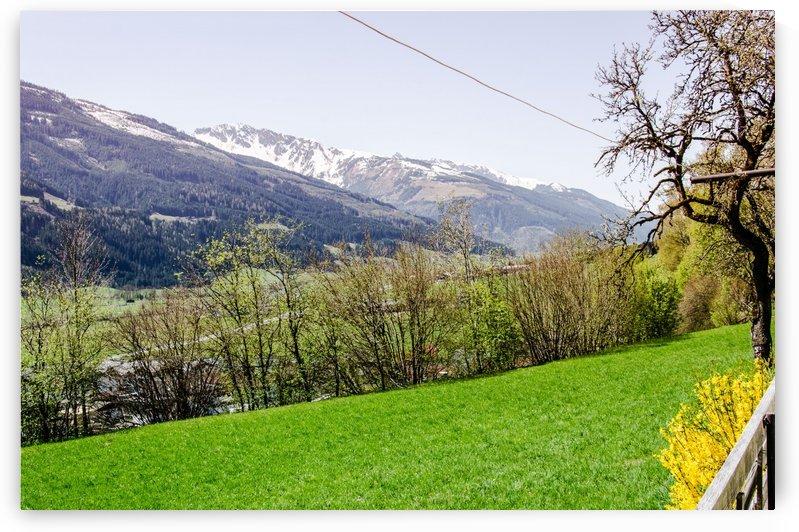 Niedernsill Landscape Austrian Alps by Ann Romanenko