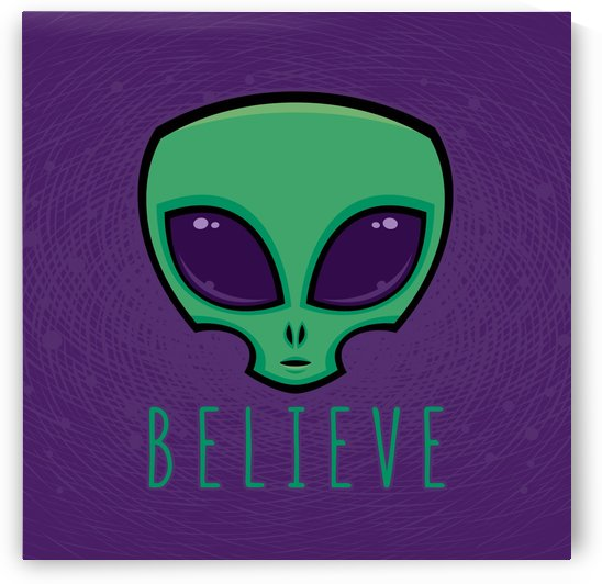 Believe Alien Head by fizzgig
