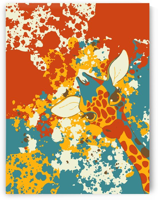 Cute Giraffe Abstract by Gabriella David