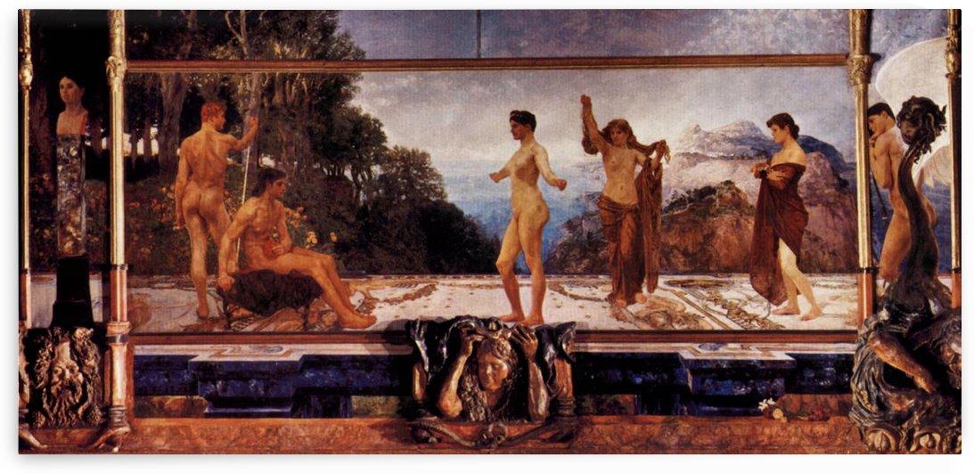 The judgement of Paris by Max Klinger by Max Klinger