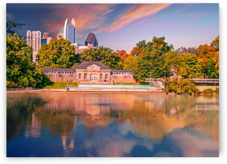 Atlanta Skyline Lake by Darryl Brooks