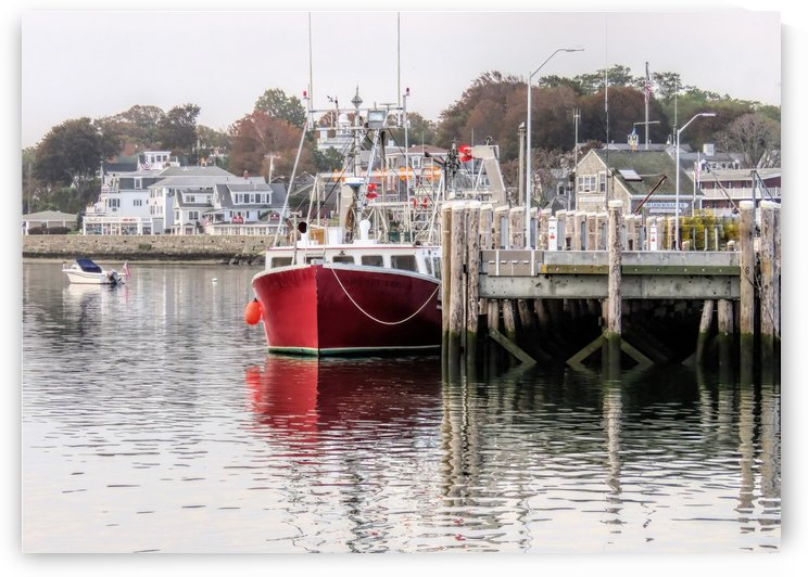 Plymouth MA town harbor  by Photography by Janice Drew