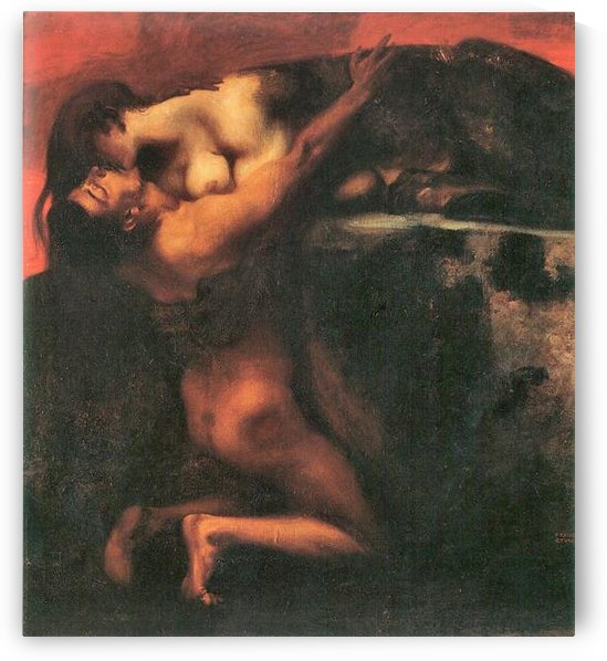The Kiss of the Sphinx by Franz von Stuck by Franz von Stuck