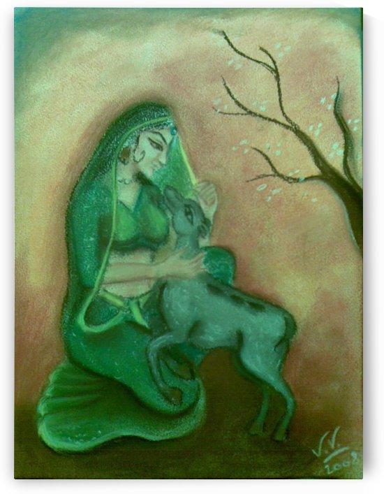 femme et le faon by lalitavv