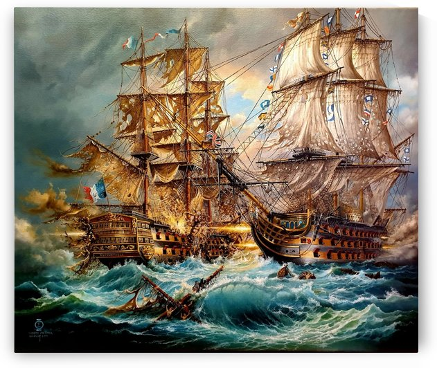 Battle of Trafalgar by Robert Zietara