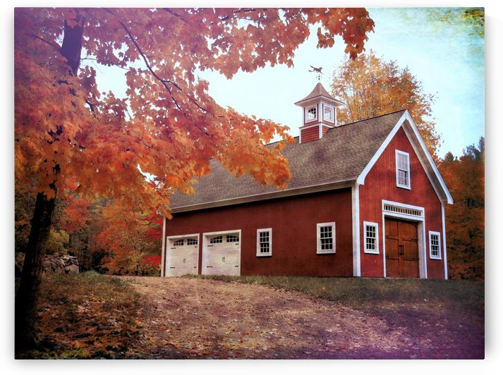 Red barn and foliage by Photography by Janice Drew