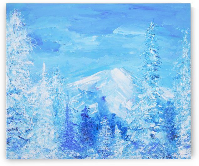 Monochromatic Blue Rocky Mountains by Chris Rutledge
