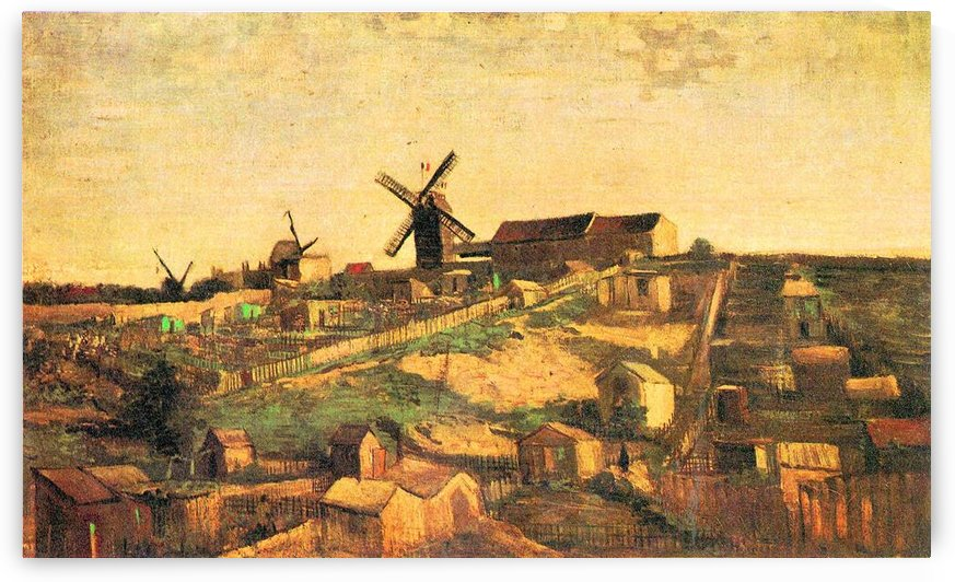 The Montmartre hill with windmills by Van Gogh by Van Gogh