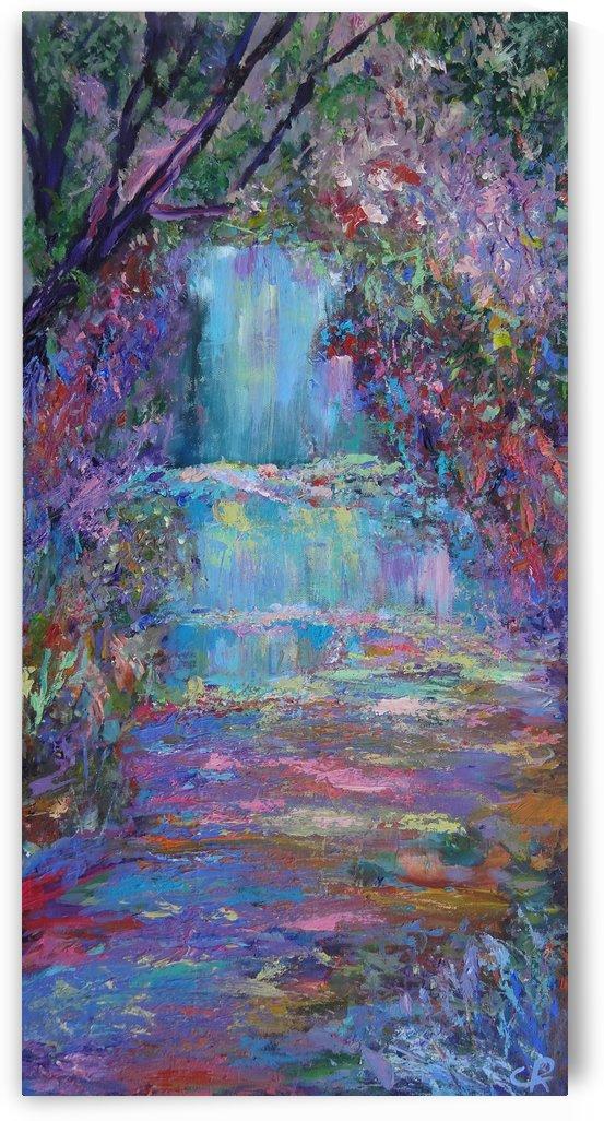 Zen Garden and Peaceful Waterfall by Chris Rutledge