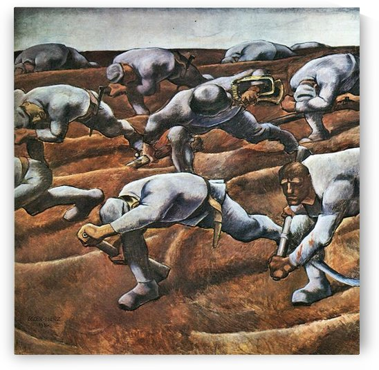 The Nameless 1914 by Albin Egger-Lienz by Albin Egger-Lienz