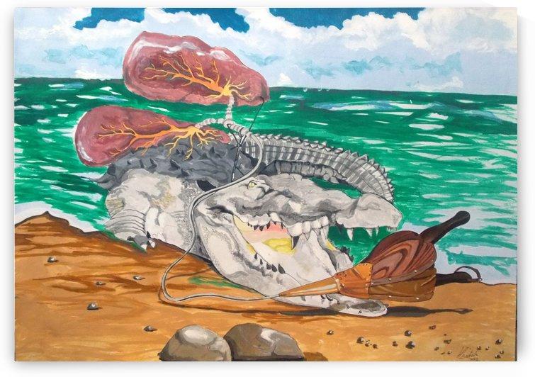 crocodile emphisema by Lazaro Hurtado