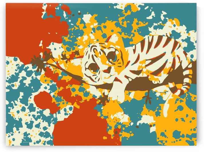 Little Tiger Abstract  by Gabriella David