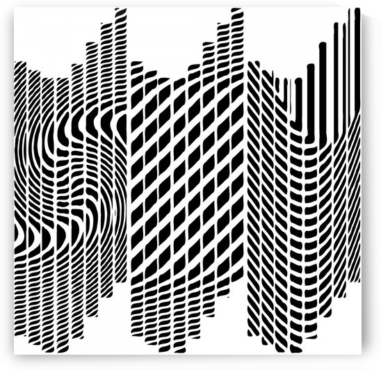 Black and White Graphic Abstract  by Gabriella David