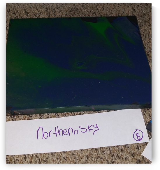 abstractpourpaintingnorthernsky by mrspourpaint