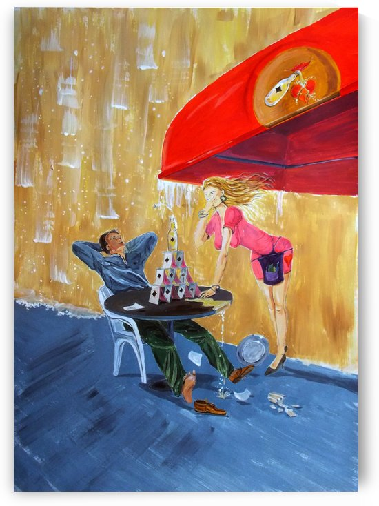 Drink and play by Lazaro Hurtado