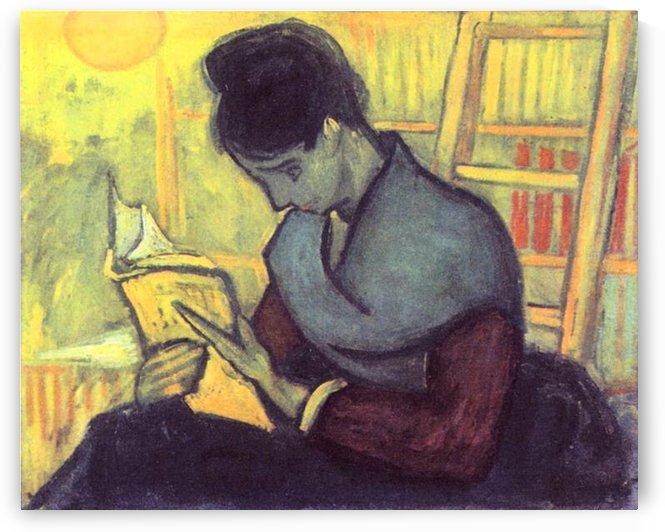 The novel reader by Van Gogh by Van Gogh