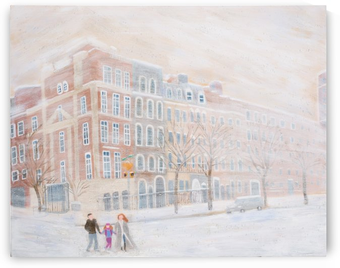 Snowy Winter Day in New York City by MJ Hoehn