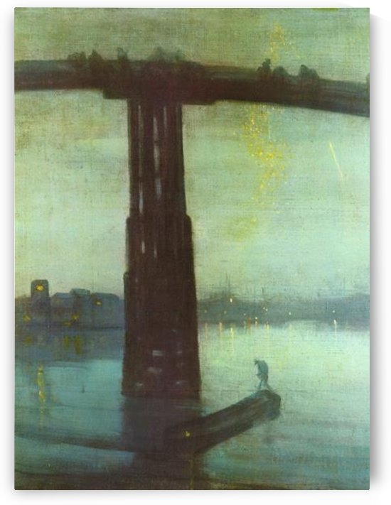 The old Battersea bridge by Whistler by Whistler