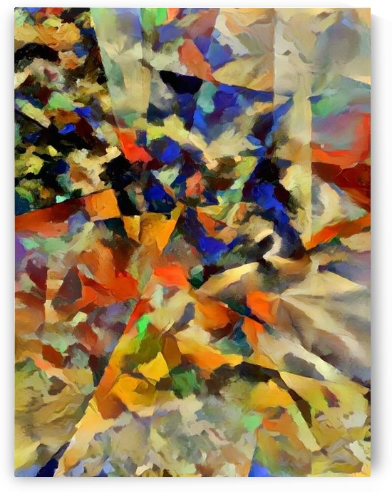 Abstract Painting with Geometric Figures by Bruce Rolff