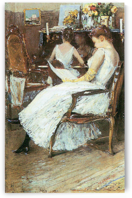 Mrs. Hassam and her sister by Hassam by Hassam