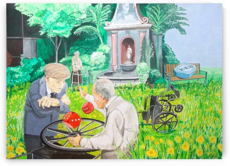 Gambling grandma by Lazaro Hurtado