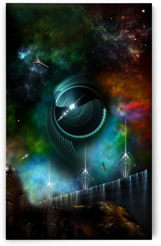 Flight Of The Corbius Fractal Art Spacescape by xzendor7