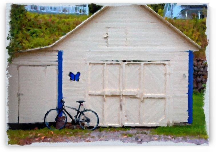 Bike on Garage Paint by Darryl Brooks