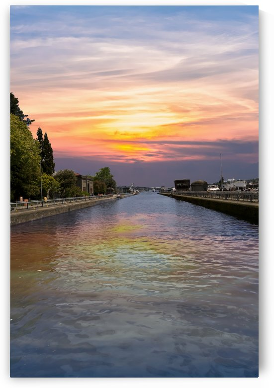 Ballard Locks at Sunrise by Darryl Brooks