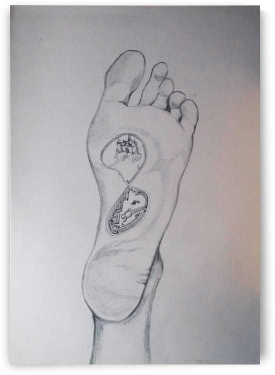 Labyrinth foot by Lazaro Hurtado
