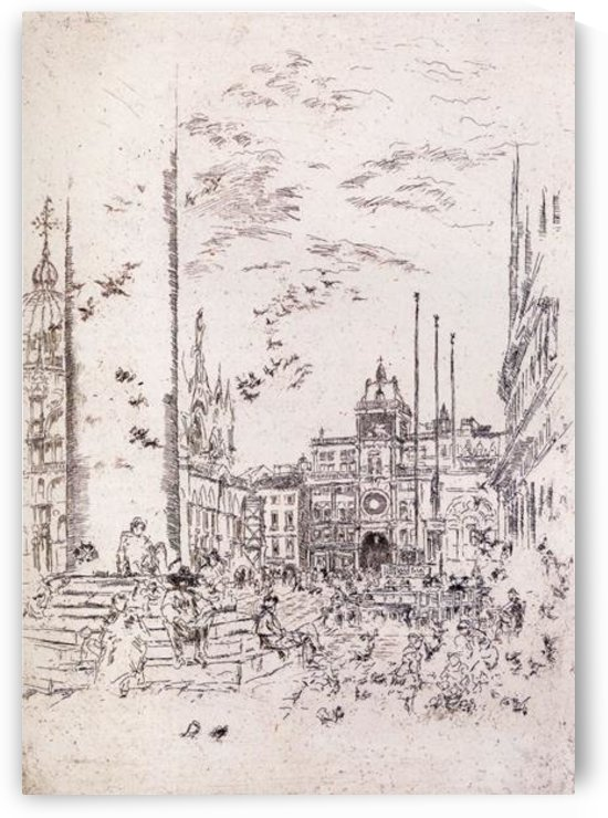 The Piazzetta by Whistler by Whistler