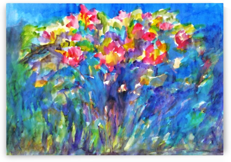 Flowering Rose Bush. by Dobrotsvet Art