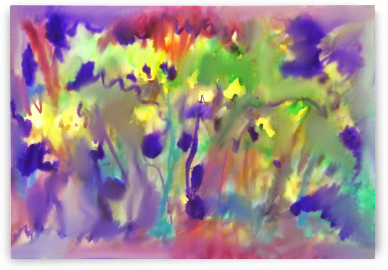 Abstract Watercolor Background. Spring Bloom by Dobrotsvet Art
