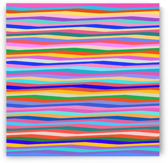 Wavy Stripes Abstract  by Gabriella David