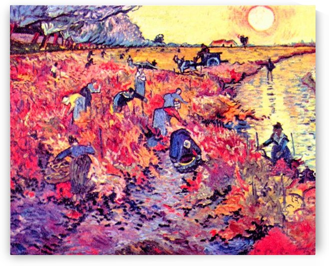 The red vines by Van Gogh by Van Gogh
