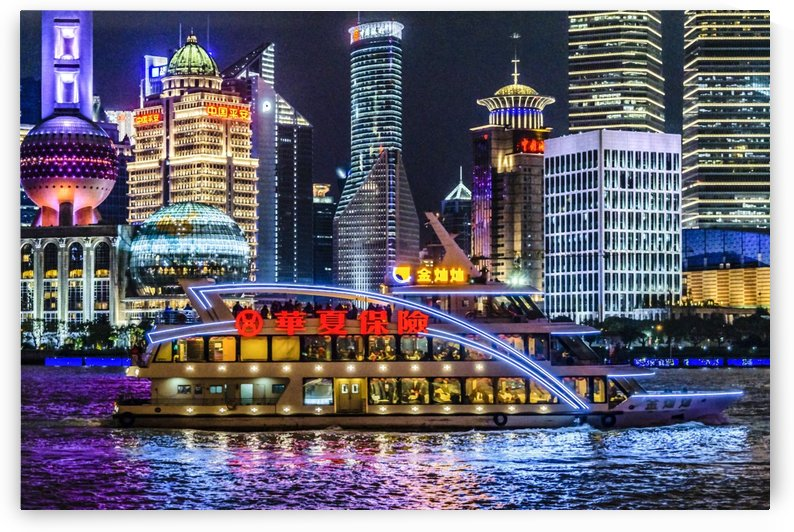 Pudong District Night Scene, Shanghai, China012 by Daniel Ferreia Leites Ciccarino
