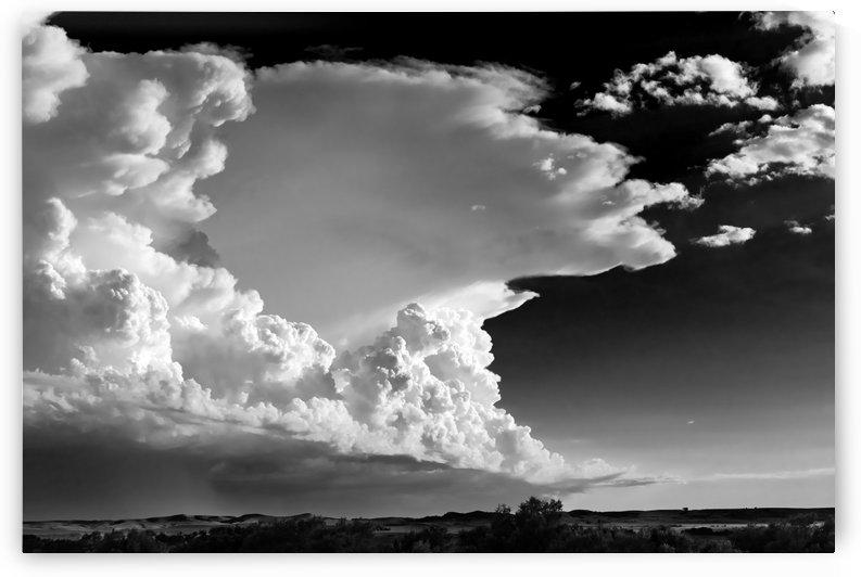 Central Nebraska Thunderstorm Incubator BW by Garald Horst