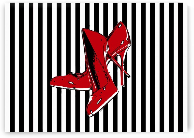 Red High Heels Abstract  by Gabriella David
