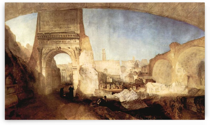 The Roman Forum, for Mr. Soane Museum by Joseph Mallord Turner by Joseph Mallord Turner
