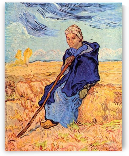 The shepherdess by Van Gogh by Van Gogh