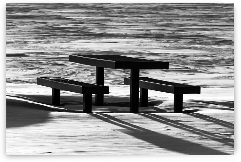 Really Cold Picnic Area BW by Garald Horst