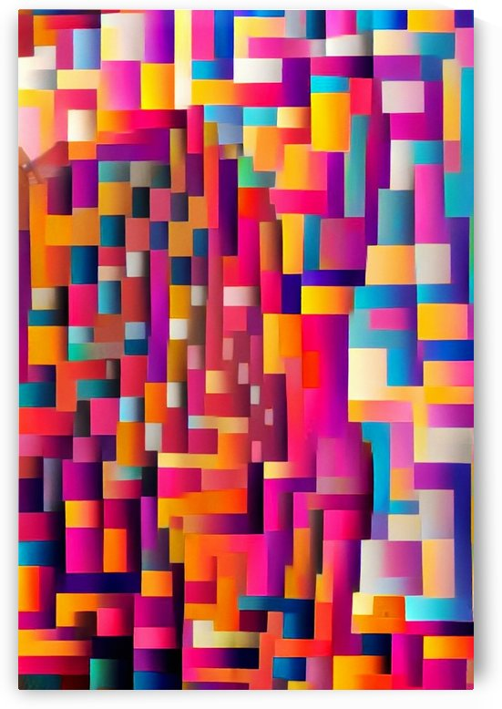 Geometric Abstract Painting by Bruce Rolff