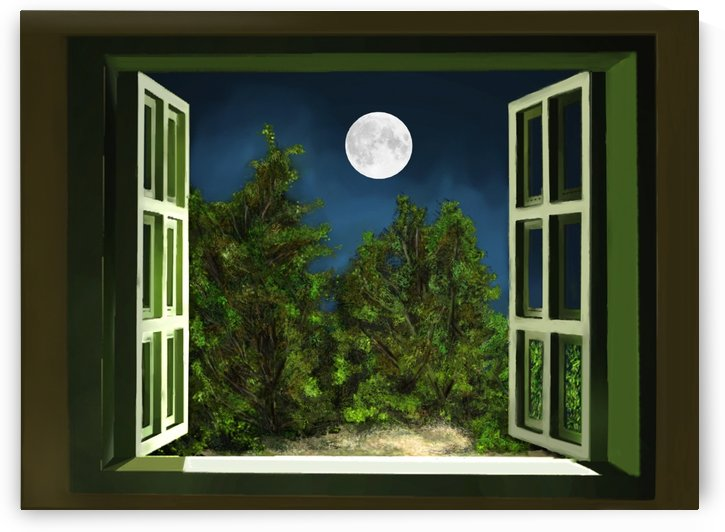 Open window to the Moon by ANA BORRAS