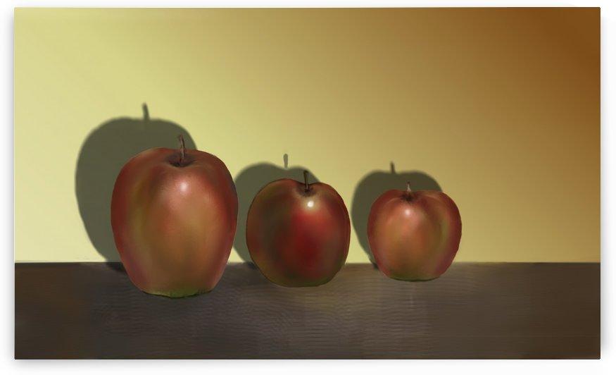 Three Apples by ANA BORRAS