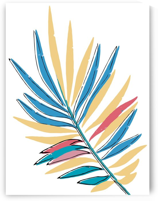 Multicolor tropical leaf abstract  by Gabriella David