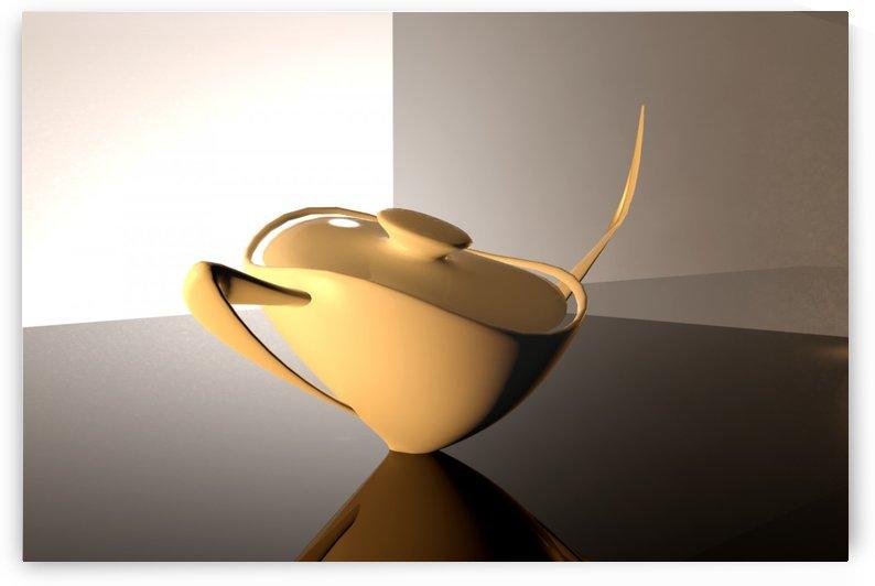White Teapot by ANA BORRAS