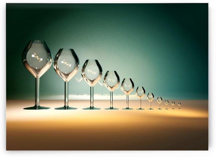 Glass Wine by ANA BORRAS